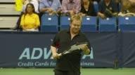 Pete Sampras Anna Kournikova Andy Roddick and Sir Elton John at the Advanta Presents WTT Smash Hits Celebrity Tennis Tournament at Bren Center...