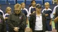 Pete Sampras Anna Kournikova Billie Jean King Sir Elton John Rennae Stubbs and Andy Roddick at the Advanta Presents WTT Smash Hits Celebrity Tennis...