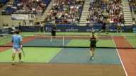 Pete Sampras Sir Elton John Anna Kournikova and Andy Roddick at the Advanta Presents WTT Smash Hits Celebrity Tennis Tournament at Bren Center...