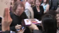 Peter Linz greets fans at the Muppets Most Wanted after party in Hollywood Celebrity Sightings in Los Angeles on March 11 2014 in Los Angeles...