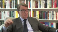 Peter Mandelson saying the EU negotiations will be 'messy' and 'fraught with unhelpful commentary from both sides'
