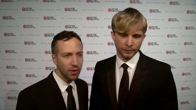 INTERVIEW Peter Pilotto and Christopher De Vos on what they are celebrating tonight with Target On why they partnered with Target and how their...