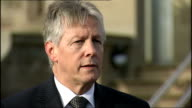 Peter Robinson and Martin McGuinness press conference Peter Robinson SOT This is about the chilling murder of a man servicing his community clue is...