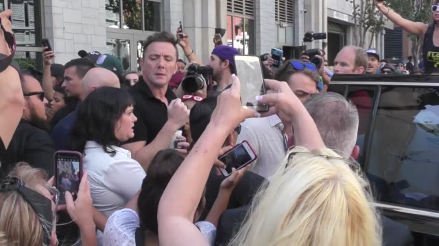 Peter Serafinowicz at Celebrity Sightings at San Diego ComicCon International on July 21 2017 in San Diego California