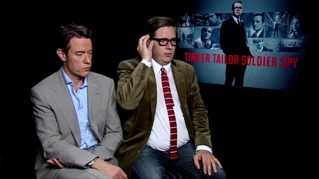 Peter Straughan and Tomas Alfredson on casting Gary Oldman as 'Smiley' at the Tinker Tailor Soldier Spy Interviews at London England