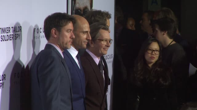 Peter Straughan Mark Strong Gary Oldman at Tinker Tailor Soldier Spy Red Carpet on 12/6/2011 in Hollywood CA