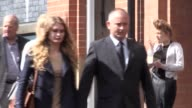 Peter Wilkinson and his daughter Lydia hold hands as they arrive at Birmingham Crown Court where Aaron Barley is accused of murdering Peter's wife...