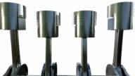 3D petrol or diesel engine work inside view