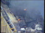 Petrol Prices NORTH SEA SEQ Piper Alpha rig ablaze/ rig smoking TX10788 ITN SEQ 'Jet' petrol station forecourt as R15189 drivers fill...