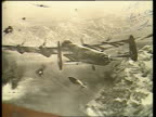 ENGLAND GV Petwoods Hotel PAN seen through trees Lincoln Petwoods CS Drawing in Hotel of Dambuster raid Hotel CS Another drawing CS Photo of damage...
