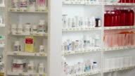MS TU Pharmacy Shelves Full of Medication Bottles / Richmond, Virginia, USA