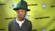 CLEAN Pharrell Williams Celebrates 41st Birthday with SpongeBob SquarePantsThemed Party at Cipriani Wall Street on April 04 2014 in New York City