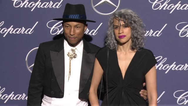 Pharrell Williams Mimi Valdes at 28th Annual Palm Springs International Film Festival Awards Gala in Los Angeles CA