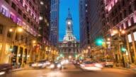 Philadelphia city hall at twilight