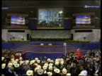 Philadelphia TGV Republican Convention in session MS Supporters dancing GV Supporters in stadium for convention PAN MS Republican offical on stage...