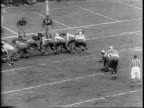 Philadelphia player Steven Van Buren runs ball toward end zone / Philadelphia coach Earle Neale yelling from sidelines / close up of Eagles passing...