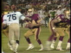 1983 WS PAN Philadelphia Stars quarterback Chuck Fusina throwing pass to Willie Collier in fourth quarter during game against Michigan Panthers / USA