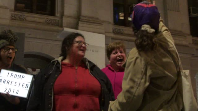 Philadelphians scream in protest one year to date after Trump was elected in to office during the 2016 US elections Antitrump protestors watched...