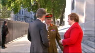 Philip Hammond appointed new Defence Secretary ENGLAND London EXT Philip Hammond MP arrival at Ministry of Defence building / Hammond greeted by...