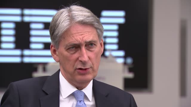 London IBM INT Philip Hammond MP interview SOT re GDP figures