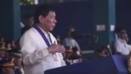 Philippine President Rodrigo Duterte announces dead or alive bounties worth $40000 for every policeman he has accused of helping accused narco...