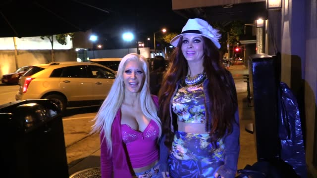 Phoebe Price Angelique Morgan on getting naked at Craigs in West Hollywood in Celebrity Sightings in Los Angeles