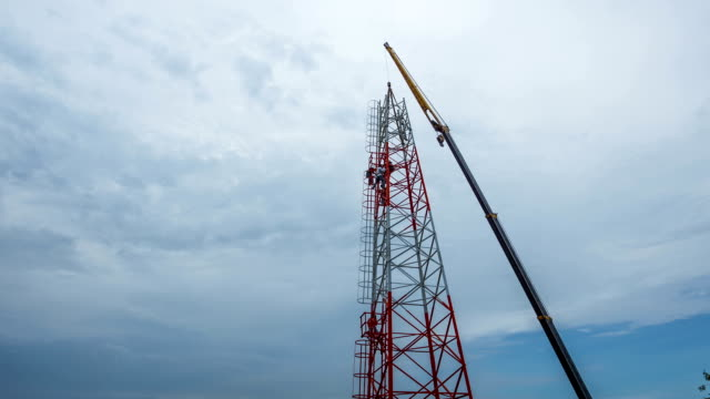 Telefon-Antenne Towers Zeitraffer