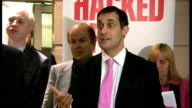 Hacked Off press conference Harris Cathcart Jeffries and others taking questions from the press SOT Kate McCann Press conference seen from other...