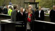 victims arrive at Parliament ENGLAND London Westminster EXT Phone hacking victims Bob Dowler and Kate McCann along and into Houses of Parliament...