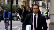 Court arrivals Alternative angles Rebekah Brooks sitting in taxi / brief shot Goodman arriving / Coulson arriving / Langdale arriving / Rebekah...