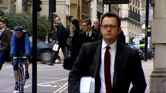 Court arrivals Alternative angles Rebekah Brooks sitting in taxi / brief shot Goodman arriving / Coulson arriving / Langdale arriving / Rebekah...