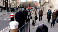 Court departures ENGLAND London Old Bailey EXT Andy Coulson departing court / Rebekah Brooks departing court and getting in taxi
