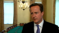 PM David Cameron reaction to verdict ENGLAND London Downing Street No10 INT David Cameron MP interview SOT re phone hacking / apology / accepted...