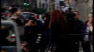 Rebekah Brooks court departure ENGLAND London Old Bailey EXT Rebekah Brooks departing court and getting in taxi / taxi away