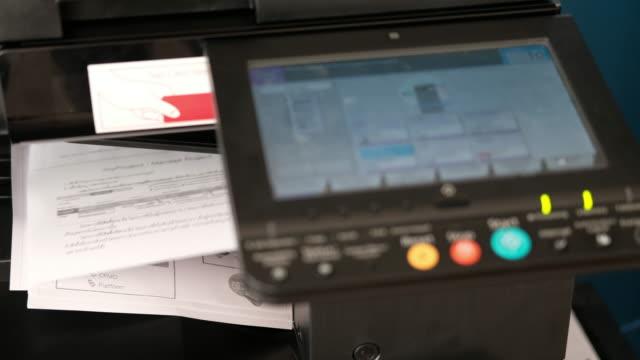 Photocopier printing documents