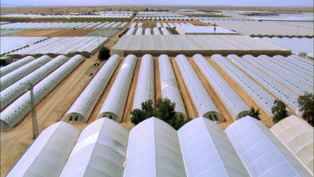 AERIAL photograph of the Agricultre greenhouses at Hatseva, Negev Desert, Israel