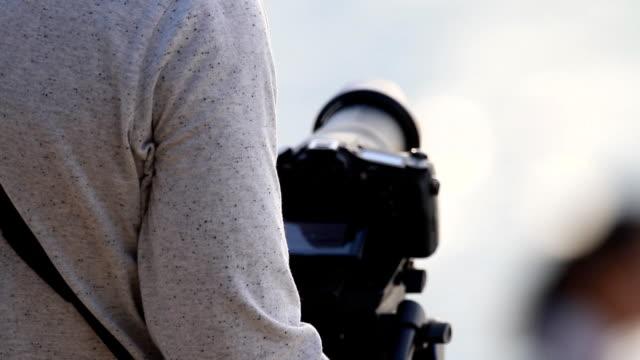 Fotograf am Meer besetzt.