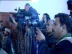Photographers waiting for start of press conference