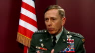 Photographs of US soldiers posing with dead Afghans published ENGLAND London Ministry of Defence INT General David Petraeus interview SOT Abu Ghraib...