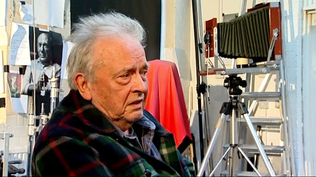 Photography David Bailey interview on charity project for Help For Heroes David Bailey interview SOT I am not in favour of any war the only war in my...