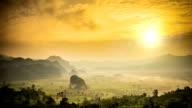 Phu lung ka at sunrise
