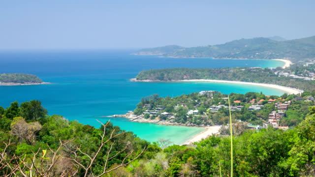 Phuket Island view from the vantage point,Crane shot