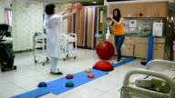 Physiotherapy after fracture of the leg