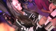 Pia Toscano greets fans after LA Kings Win Stanley Cup at Staples Center in Los Angeles 06/11/12 Pia Toscano greets fans after LA Kings Win Stanley...