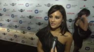 INTERVIEW Pia Toscano on the Grammys tonight at Warner Music Group GRAMMY Celebration Presented By Mini on 2/10/13 in Los Angeles CA