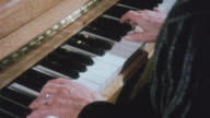 1983 MONTAGE Pianist playing piano / United Kingdom