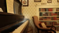A piano in a room