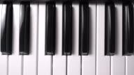 Piano key Slide shot top view