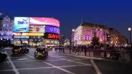 WS Piccadilly Circus at night, London, England