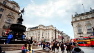 Piccadilly Circus, London, England  time-lapse